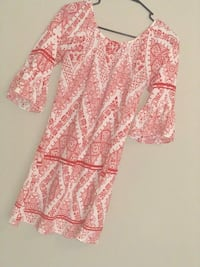 pink and white floral long-sleeved dress Fort Wayne, 46814