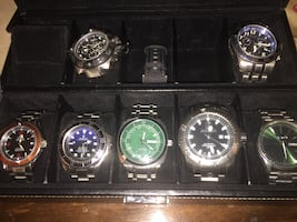 Box of men's watches