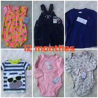 Carters baby clothes 12 months Toronto, M5J 2Y4