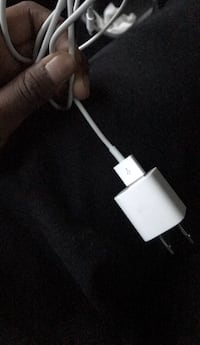 white USB to micro USB cable 21 mi