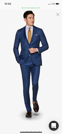 Tailored Blue Slim Fit Suit (Italian) - from Suit Supply Toronto, M5G 2B3