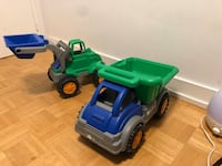 green and blue plastic truck toy Toronto, M1R 1P6