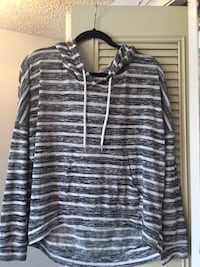 white and gray striped pull-over hoodie Calgary, T1Y 1B2