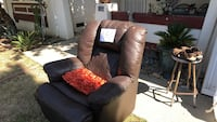 Brown leather rocker/recliner San Jose, 95121