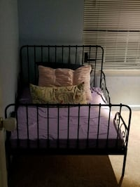 brown metal bed frame and white mattress Arlington, 22201