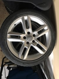 Authentic Audi wheels 5x112 with continental all season tires