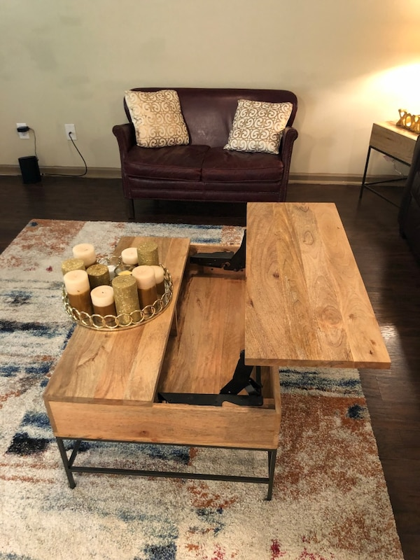 Pop Up Coffee Table.West Elm Industrial Storage Pop Up Coffee Side Tables