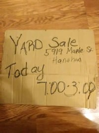 Yard Sale post