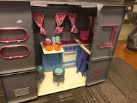 Doll sized camper (with cups, drinks, silverware and plates)  and jeep  Greensboro, 27410