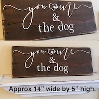 You Me and the Dog Rustic Wood Sign Grimsby, L3M
