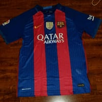 Barcelona home jersey messi size large 42 km