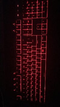 Black and red gaming keyboard Montréal, H2W 2L2