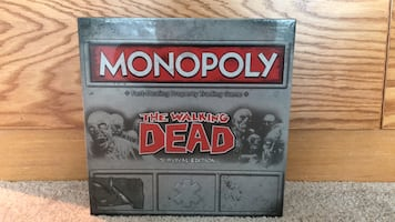 New Monopoly Walking dead survival edition