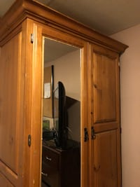 Hand crafted used Armoire!! NEED GONE ASAP!! Barrie
