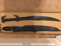 """Spartan Style Sword NEW 35"""" Carbon Steel Leather Sheath Mary Esther, 32569"""