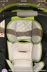 Chicco infant carseat comes with base very gently used clean Vaughan, L6A 3K6