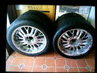 22inch chrome rims, mid profile tires Topeka
