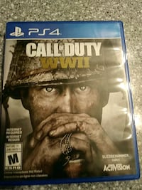 Call of Duty World War 2 PS4 game case Calgary, T2X