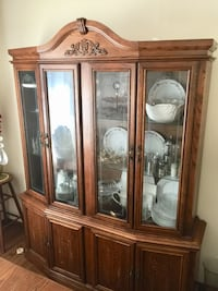 Walnut buffet and hutch / china cabinet.  Lakeshore, N0R