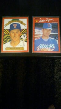 2 Nolan Ryan 1990 Donruss (ERROR CARDS, RARE)