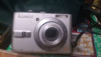 silver lumix point and shoot camera