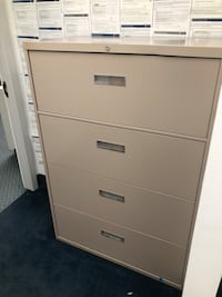 White metal 4-drawer filing cabinet Bethesda, 20814