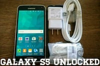 Black Galaxy S5 UNLOCKED w/ Accessories  Arlington