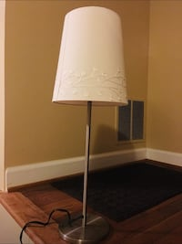 Side table lamp with White fabric shade Vienna, 22182