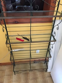 Hand made iron bakers rack