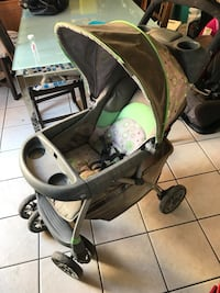 baby's gray and green stroller Gatineau, J8T 2Y8
