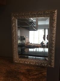Mirror in Wood with Silver Leaf Finish Mc Lean, 22101