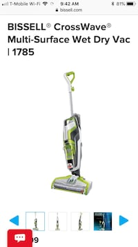 green and gray upright vacuum cleaner Sterling, 20164