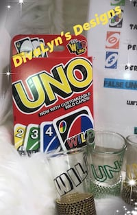 "Drunk ""Blinged"" Uno Game"