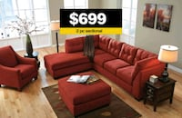 Sienna sectional $699 - Ottoman $199 Lawrenceville