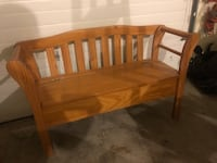 SOLID WOOD FULL SIZED DEACONS BENCH