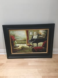 Rénovation sale Beautiful vibrant painting with wooden frame. Hampstead, H3X 4A6