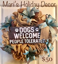 Dog Lover Welcome wreath College Station, 77840
