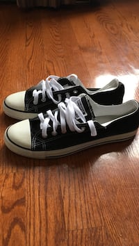Pair of black-and-white converse Size 6 kids