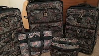 Five black, red, and gray floral travel system O'Fallon, 63366