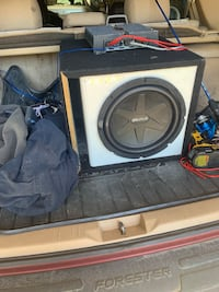 Brutal 15 in sub and amp. Works great currently hooked up in my daily driver, amp works great and sub hits hard. 150$obo Bloomingburg, 12721