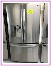 LG Stainless French 3 Door Refrigerator Charlotte