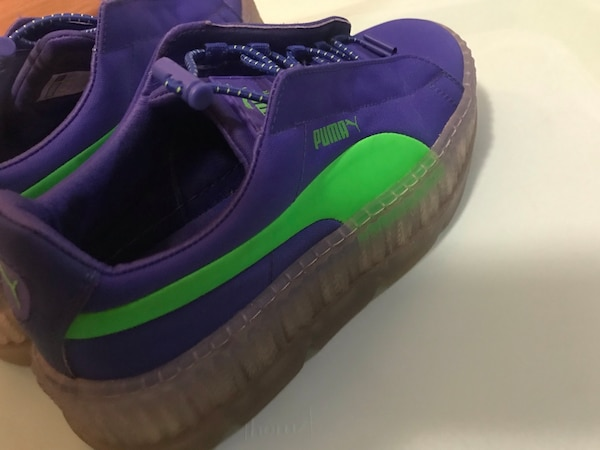 sports shoes 389a3 9b1c3 PUMA cleated Creeper Royal Blue & Neon Green
