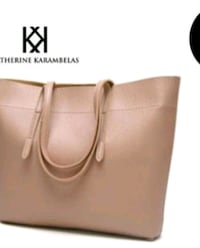 KATHERINE KARAMBELAS VEGAN LEATHER TOTE BAG Pickering, L1V