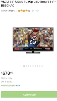 55 inch Vizio LED smart TV  San Antonio, 78258