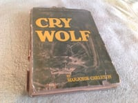 Cry Wolf by Marjorie Carleton. Vintage 1946 novel. Calgary, T2C 0P5