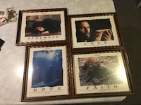 set of 4 passion of the christ beautifully framed pictures BLUESPRINGS