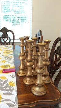 6 Gold Candleholder South Chesterfield, 23831