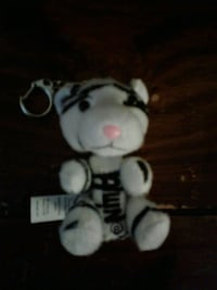 white and black tiger plush toy key chain Camden, 08102
