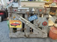 Awesome, antique man cave barn gate.