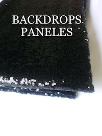 Black Sequins sequence backdrops 10ft x10 feet Los Angeles, 90001